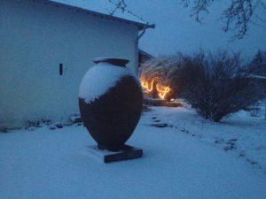 Ferienhaus Eifel Uedelhoven Skulptur nebenan 1