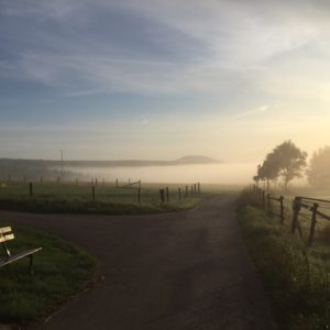 Ferienhaus Eifel Uedelhoven aufziehender Nebel Spätsommer